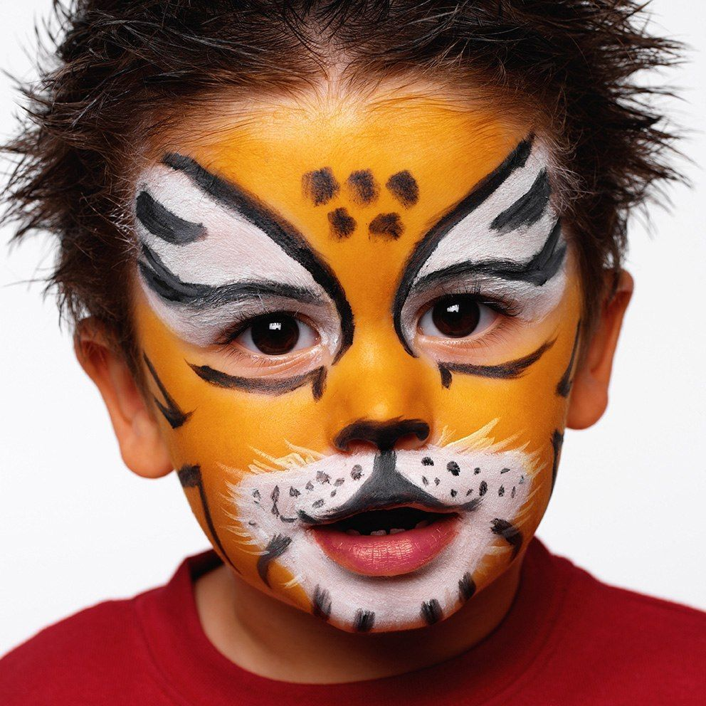 Face-Painting-Ideas-Tiger-Lion
